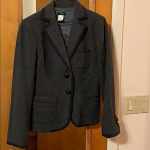 JCREW school girl blazer. Gray and black trim.